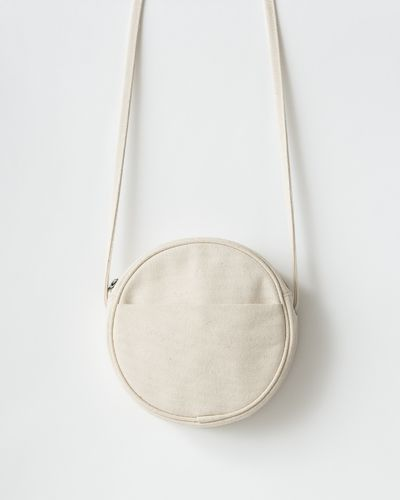 Canvas circle purse S, natural canvas