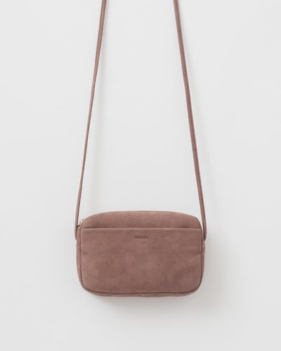 Mini purse, Taro nubuck