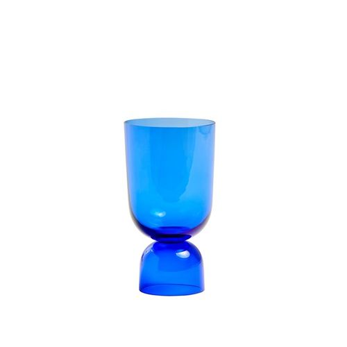 Bottoms up vaasi, S, electric blue
