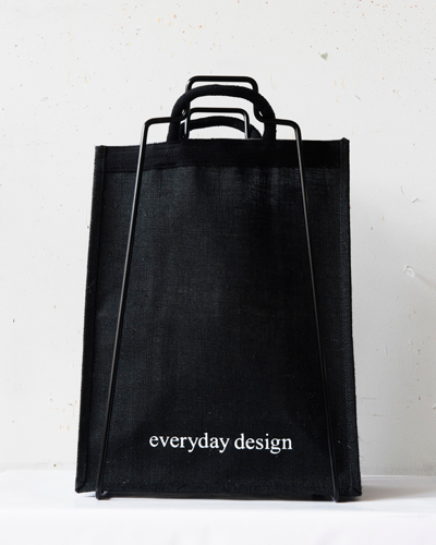 Everyday design -juuttikassi, musta