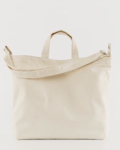 Horizontal Duck Bag, Natural Canvas