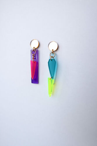 Mini Chandelier, neon color 1