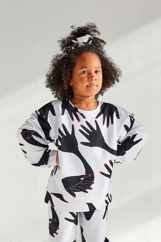 Lasten Jazz sweater, Hand print