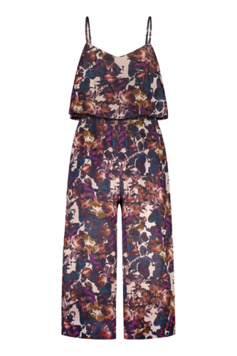 Layered jumpsuit, Midnight garden