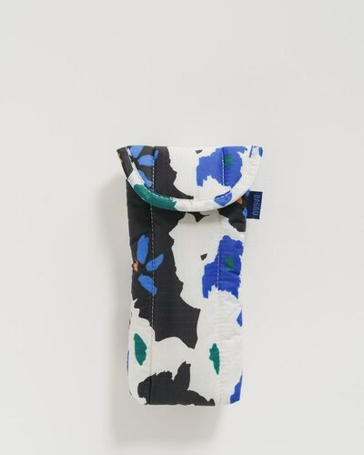 Puffy glasses sleeve,  Litho floral