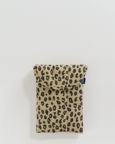 "Puffy tablet sleeve 8"", Leopard honey"
