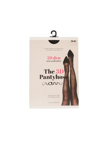 The 3D Pantyhose with Dots, Black 20 den